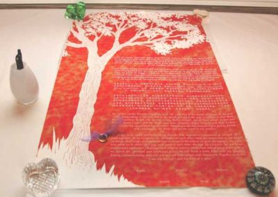 A special ketubah written in Chinese, Hebrew and English