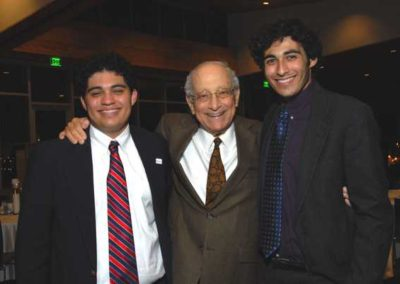 Herb Notowich, of blessed memory, with grandsons, Sam and Aaron Canales.