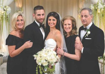 Nother of the groom, Barbara Spinner, with Mike and Amanda and her, parents Cheryl and Richard Druce.