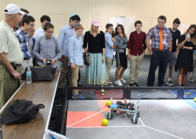 Crowd gathers around KYHS Robotics Project