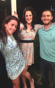Moishe House Atlanta residents, Amy Abelson, Cassidy Artz, and Matthew Spruchman.
