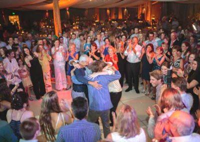 Dancing the hora.