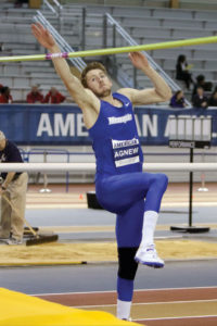 University of Memphis track and field team member Noah Agnew