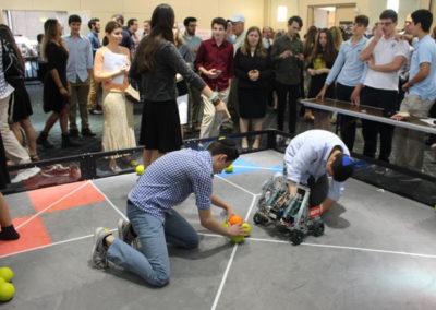 Katz Yeshiva Robotics Team Works on Project