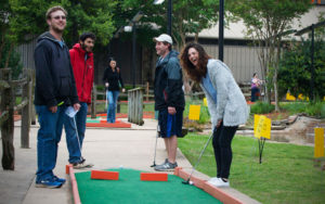 University of Memphis students at the annual Yiddishe Cup Mini-Golf Tournament at Putt Putt Golf & Games. Spring Loaded Calendar