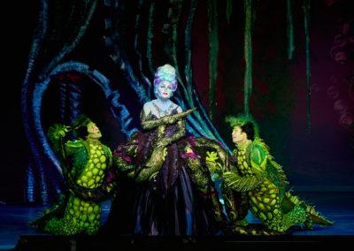 Jennifer Allen Brandon Roach and Frederick Hagreen in Disney's THE LITTLE MERMAID