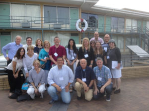 Memphis-Shoham partnership: Group in front of Lorraine Motel