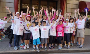 Team Soul to Sole having fun getting ready for the 2016 Memphis Mid-South Race for the Cure
