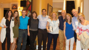 Memphis-Shoham partnership: The steering committee enjoys an evening at the home of Jill and Ken Steinberg.