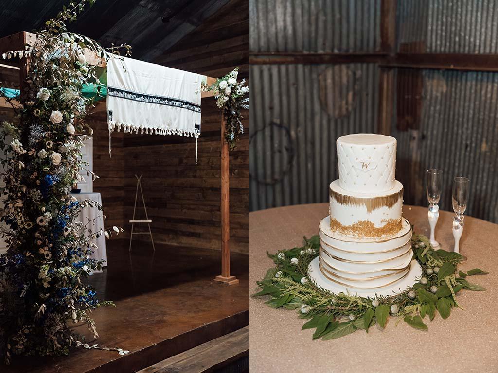 Chuppah and Wedding Cake